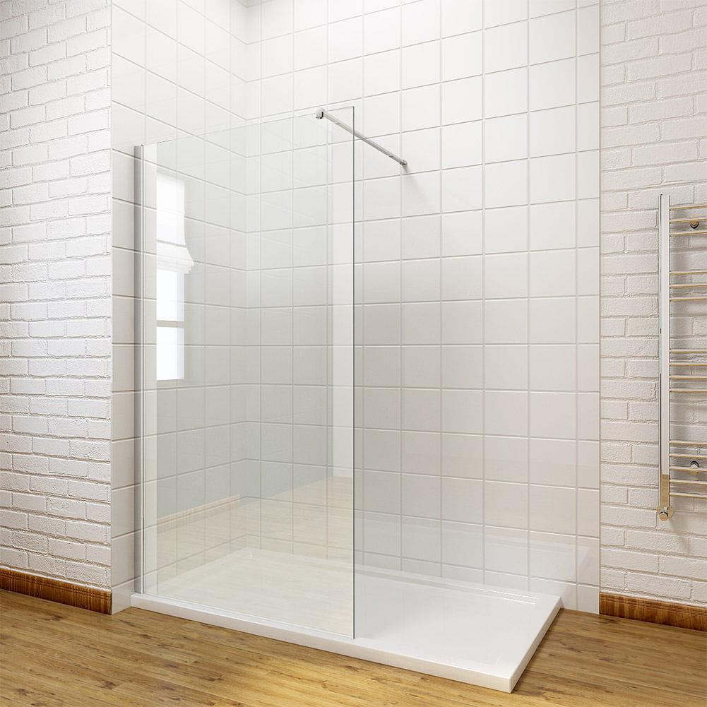 Massi cianka szyba prysznicowa walk in fix 120 cm for Garderobe 80 x 200