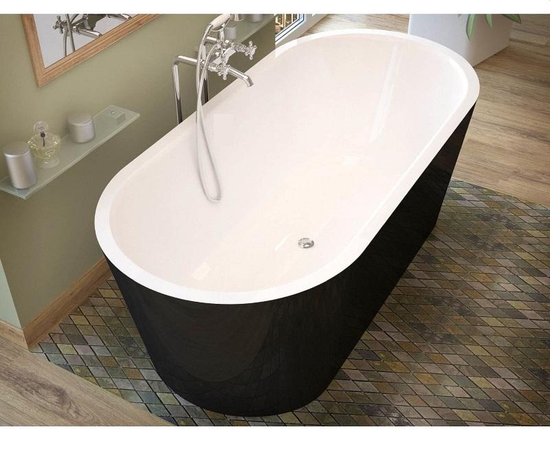 Островная ванна MASSI Thermo Black